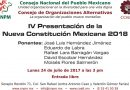 IV Presentación de la Nueva Constitución Mexicana 2018