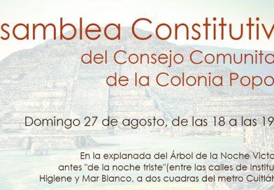 Asamblea Constitutiva del Consejo Comunitario de la Colonia Popotla