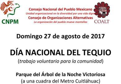 27 de agosto. Día Nacional del Tequio