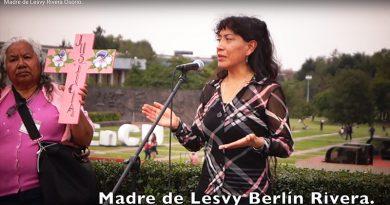 A tres meses del feminicidio de Lesvy Berlín. Mitin frente a rectoría en Ciudad Universitaria (Video)