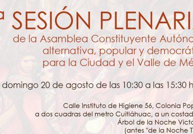 7ª Sesión plenaria de la Asamblea Constituyente Autónoma del Valle de México