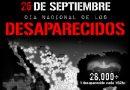 26 de septiembre. Día nacional de los desaparecidos