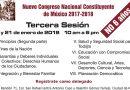 Tercera sesión del Nuevo Congreso Nacional Constituyente de México