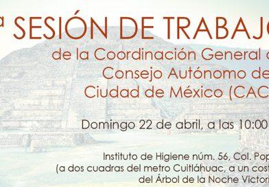 2ª sesión de trabajo de la Coordinación General del Consejo Autónomo de la Ciudad de México