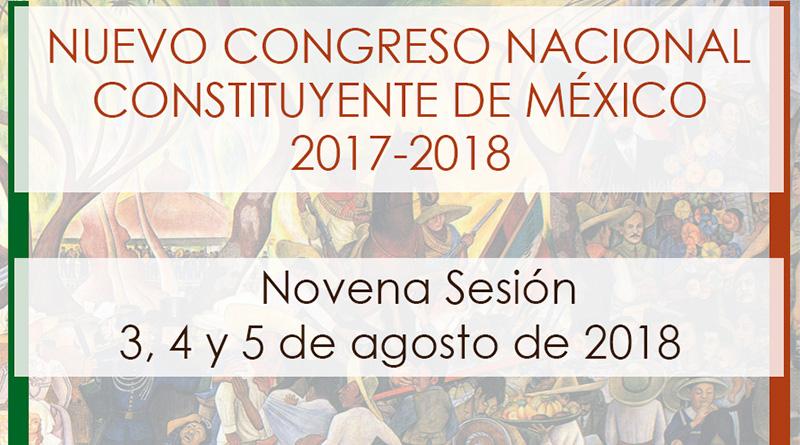 Novena sesión del Nuevo Congreso Nacional Constituyente de México