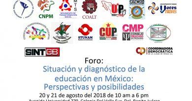 Foro: Situación y diagnóstico de la educación en México