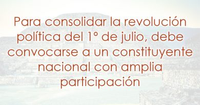 Consolidemos la revolución política