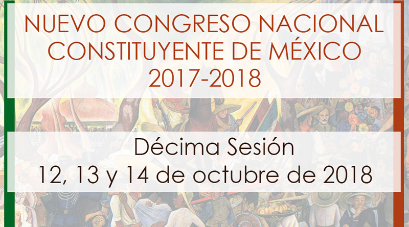 Décima sesión del Nuevo Congreso Nacional Constituyente de México