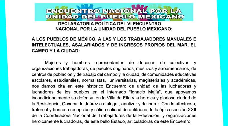 Encuentro Nacional por la Unidad del Pueblo Mexicano
