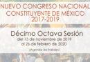Décimo octava sesión del Nuevo Congreso Nacional Constituyente de México
