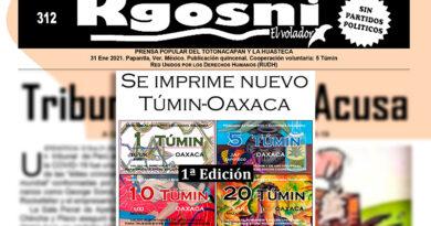 Se imprime nuevo Túmin-Oaxaca (Nota)