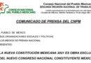 Comunicado de Prensa del Consejo Nacional del Pueblo Mexicano