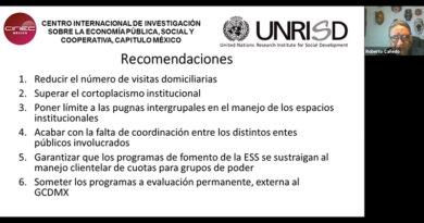 Políticas de fomento de la Economía Social Solidaria. Estudio de caso de la Ciudad de México (Video)