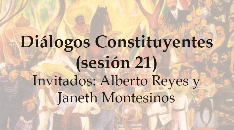 Diálogos Constituyentes – sesión 21 (Video)
